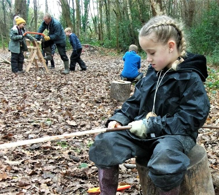 All go with the Forest School woodcraft!