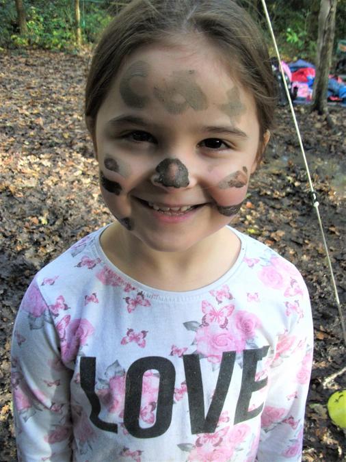 Muddy face paints