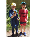 Mary-Jane and Henry out Geocaching with SatNav