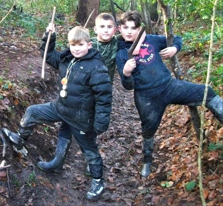 Forest School hunter and gatherers