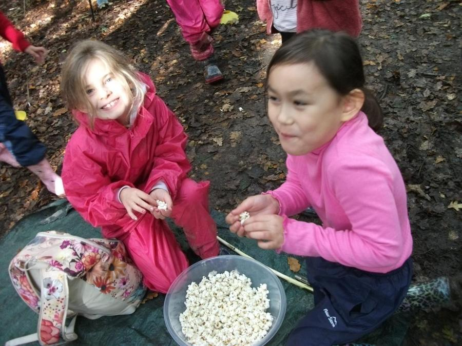 Snack time popcorn - always a favourite!