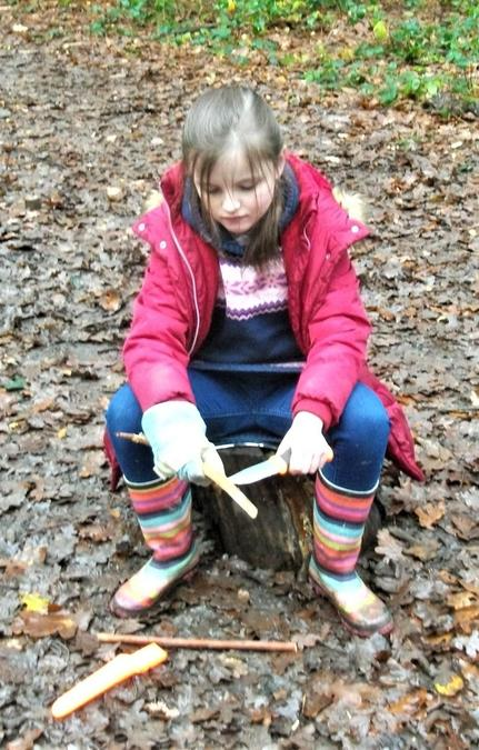 Getting creative with whittling skills
