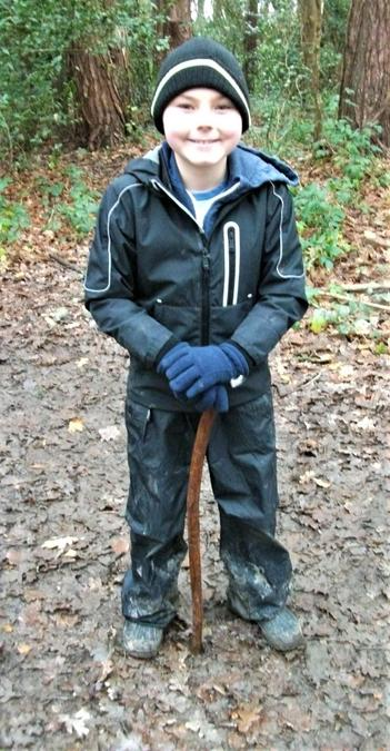 Crafting a Forest School walking stick