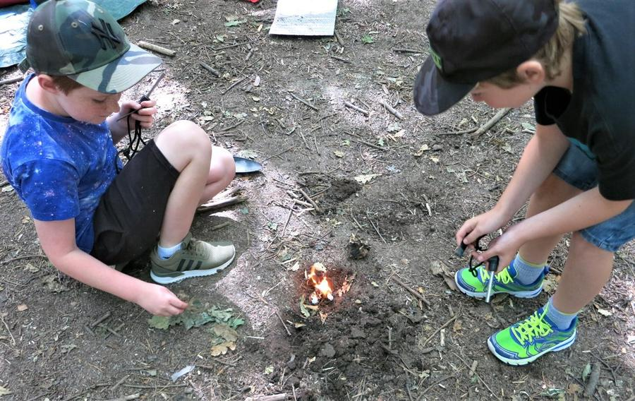 Teamwork to make a fire