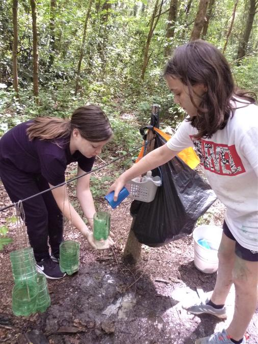 Team work needed using the Forest School wash station