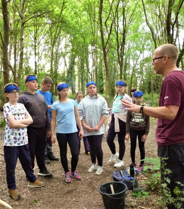 Instructions for the blindfold trust games
