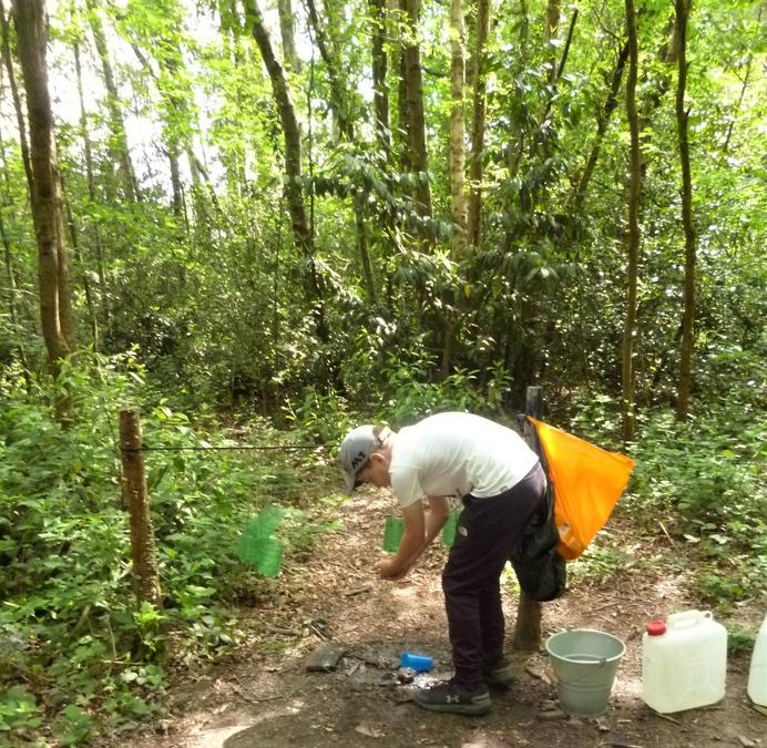 Forest School wash station up and running