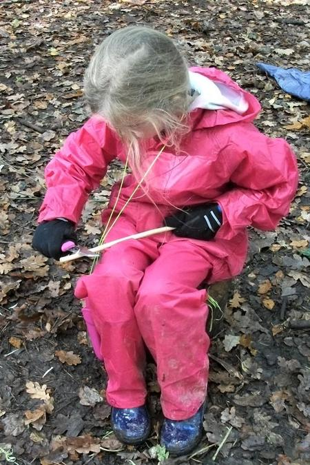 Patience and care in willow whittling
