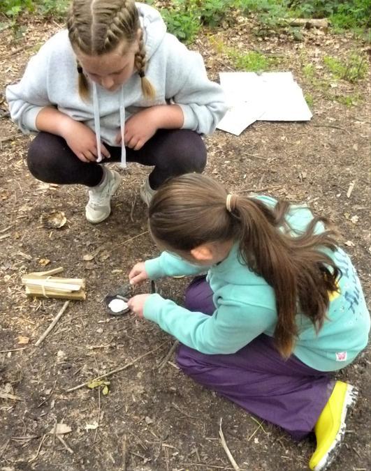 Teamwork to create mini fires