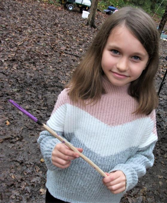 Magical wands in the woodland