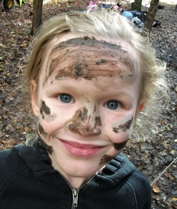 Forest School muddy face paints