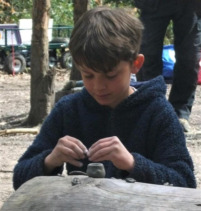 Creative pottery at Forest School