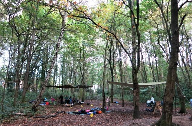 Our new Forest School camp!