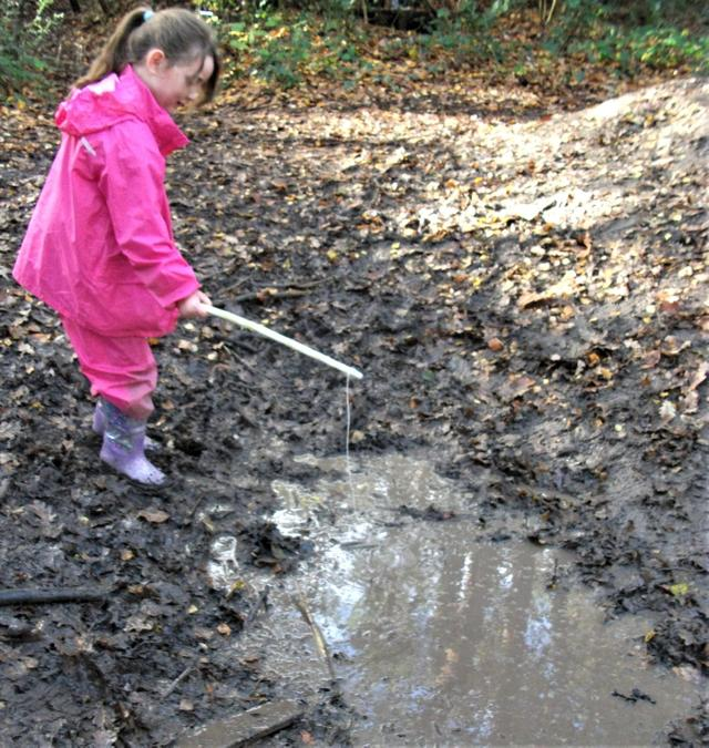 Fishing in muddy puddles
