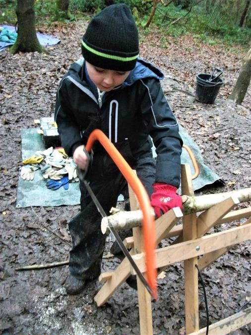 Learning bow saw skills