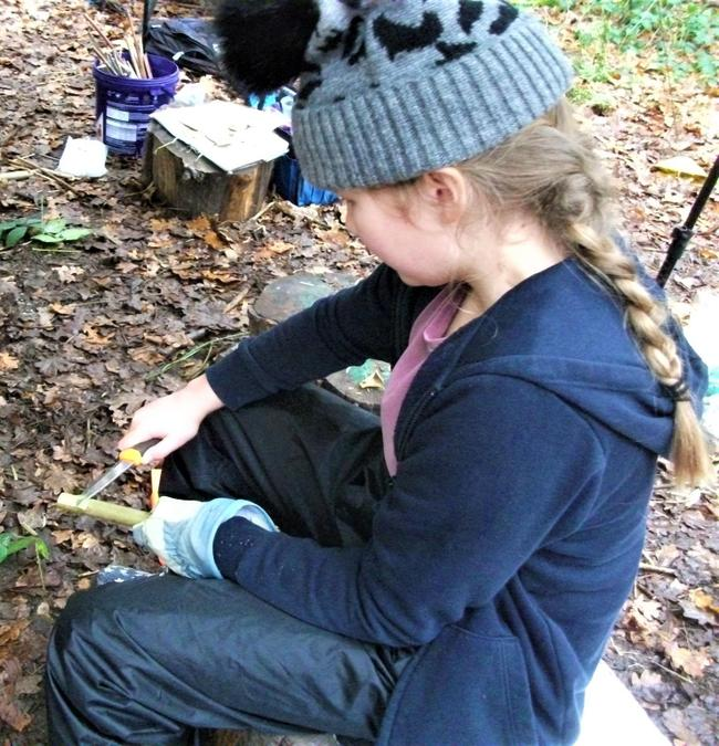Whittling around the campfire