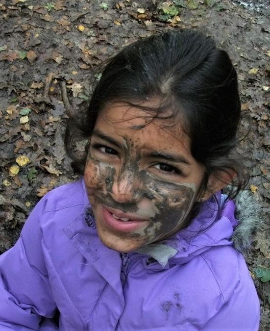 Lots of mud to decorate our faces