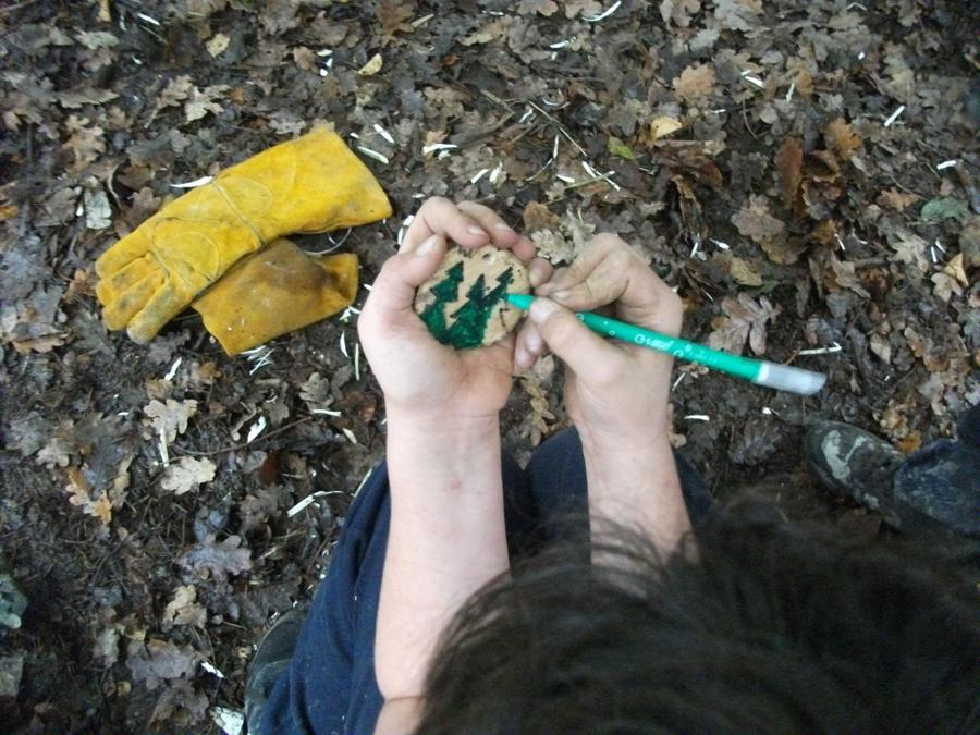 Decorating our Forest School  amulets