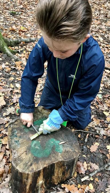 Creating a mini woodland pencil