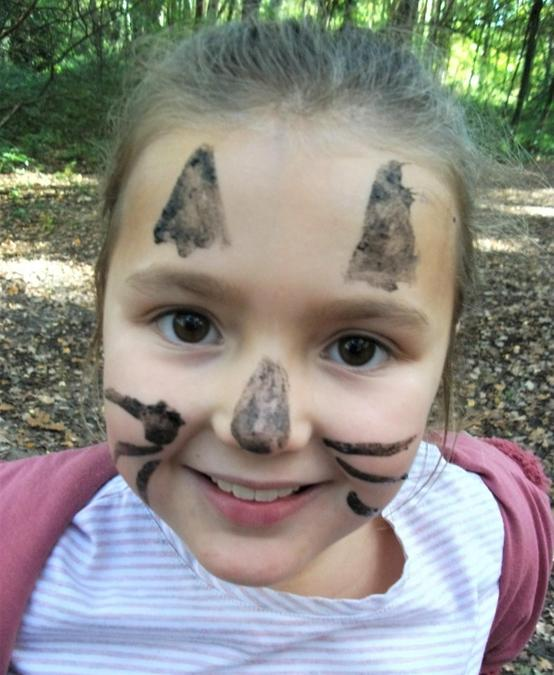 Muddy face painting to end the day!