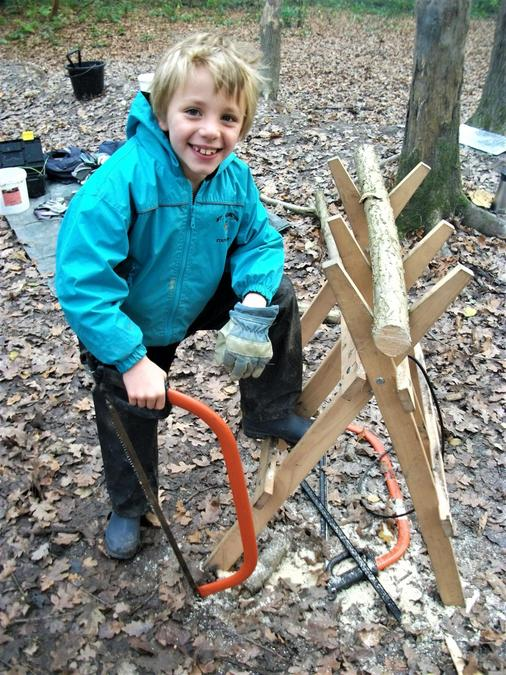 Now that is a classic Forest School pose!