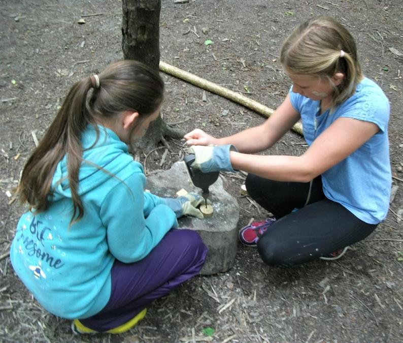 Teamwork to drill those amulets