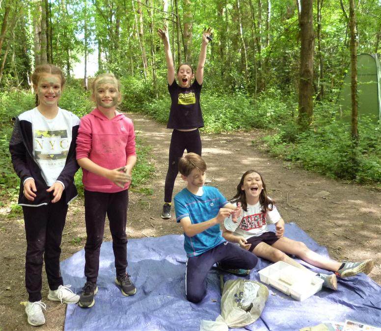 All go in the Forest School art zone