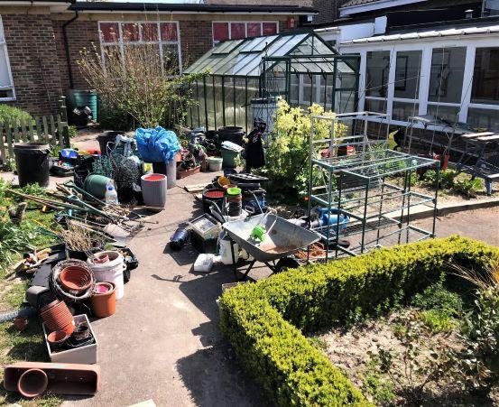 That's a LOT of stuff from one small greenhouse!