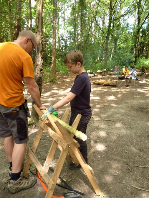 Learning skills with the bow saw