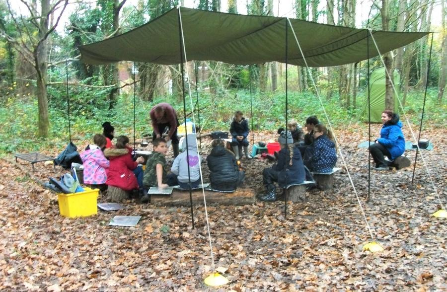 Year 4 Forest School base camp