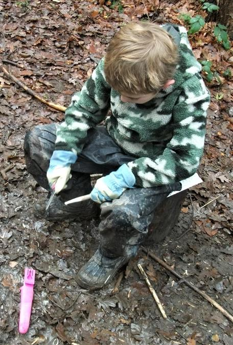 Creating a woodland pencil