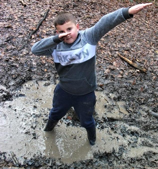 Muddy puddle pose