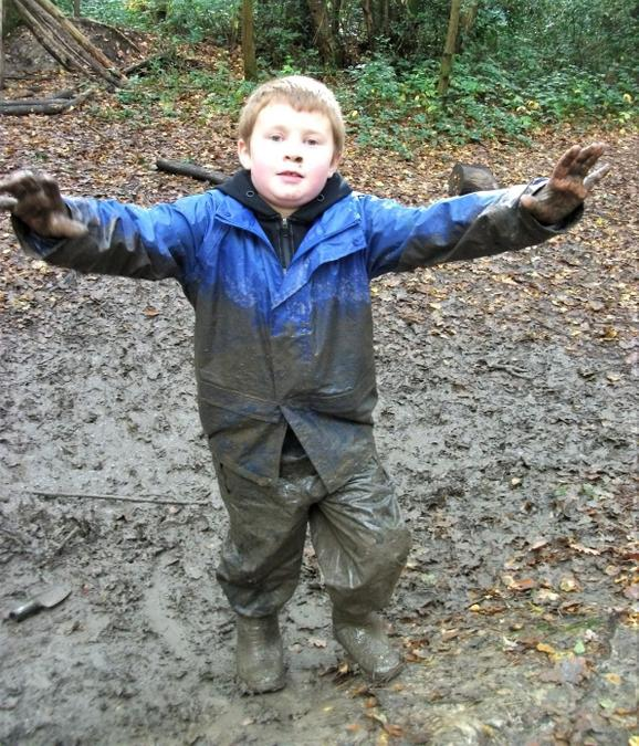 Did you swim in the mud puddles?