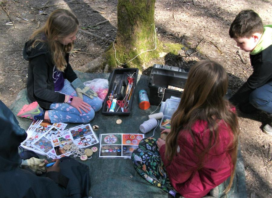 Art zone gets busy for the amulet designs