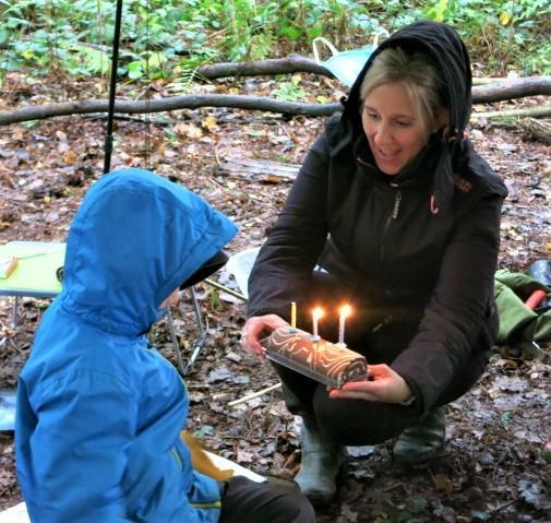 Birthday out in the forest!