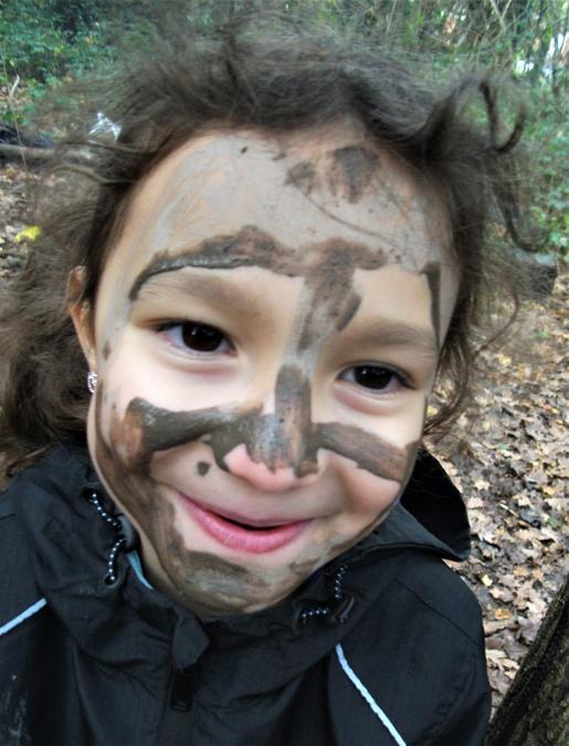 Muddy face art