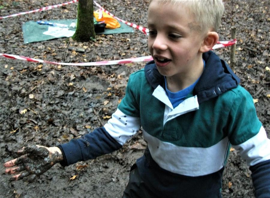 Bit slippy on the mud!