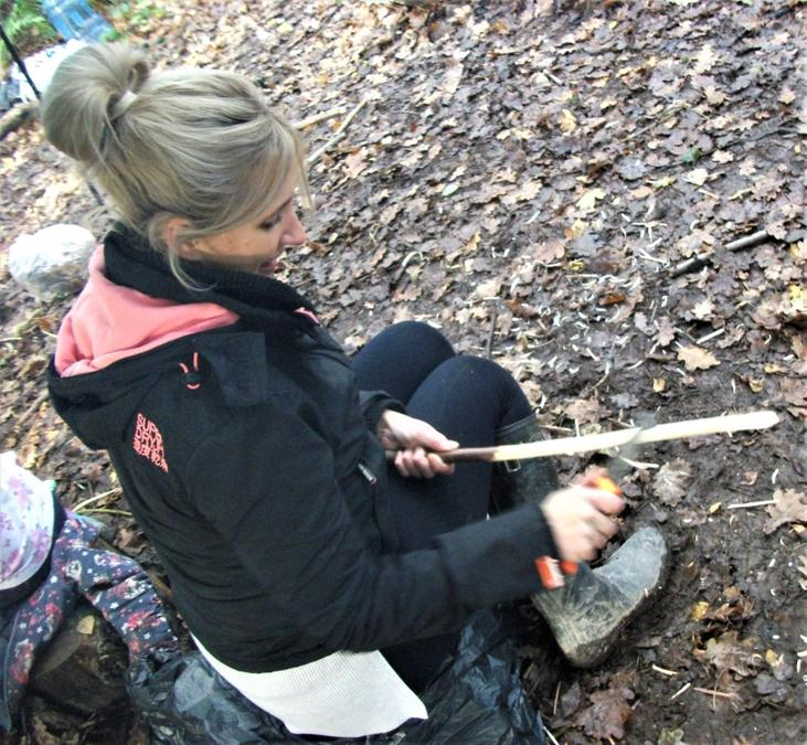 Even the adults like to have some whittling fun!