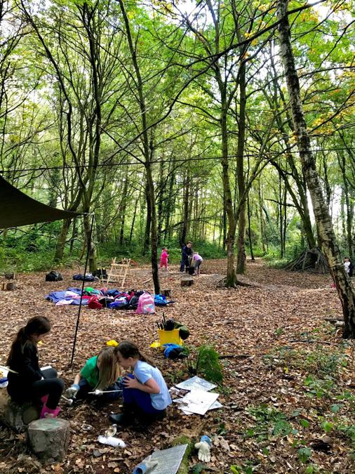 So many activities happening in our beautiful woodland