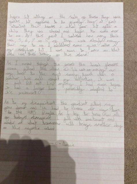 Pg2. Super writing and description Zach!