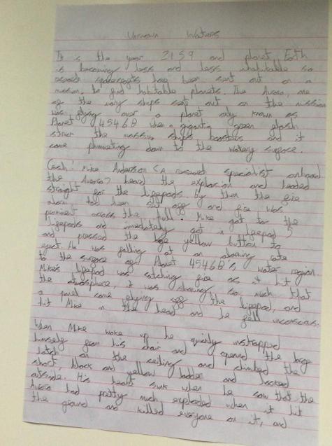 Zach's story. Page 1.