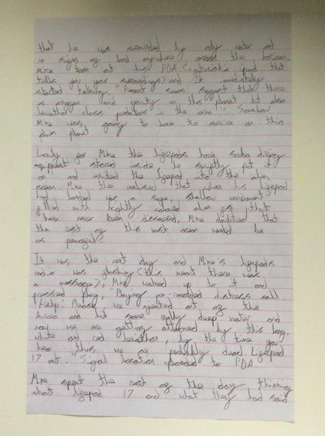 Zach's story. Page 2.