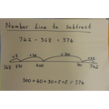 Yr 3 - Number line to subtract