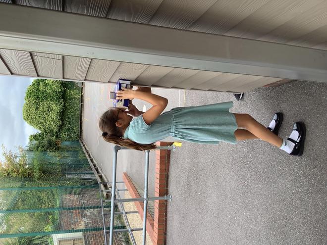 Children used periscopes to see around corners.
