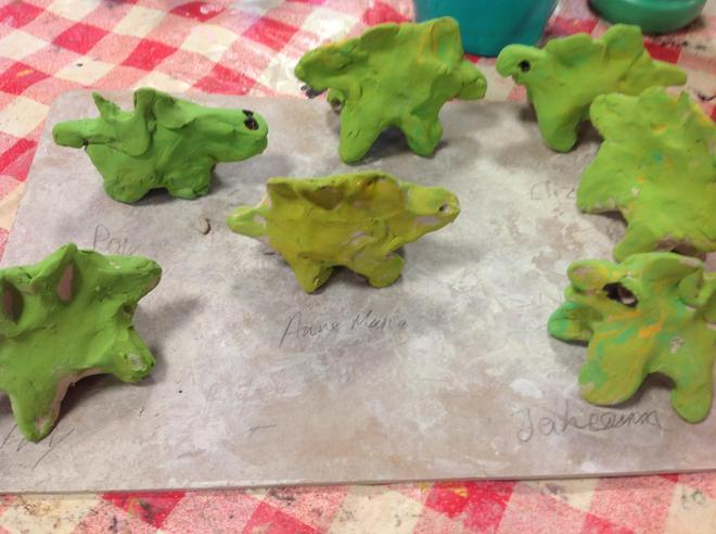 Clay Dinosaurs
