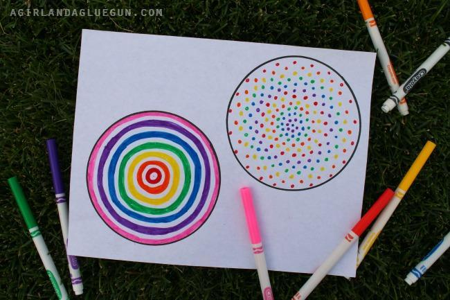 2. Add colour to your circles