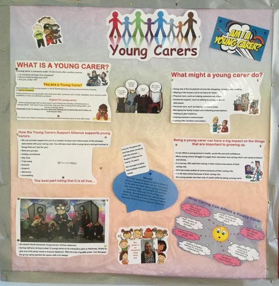 Young Carers Designated lead is Mrs Sander