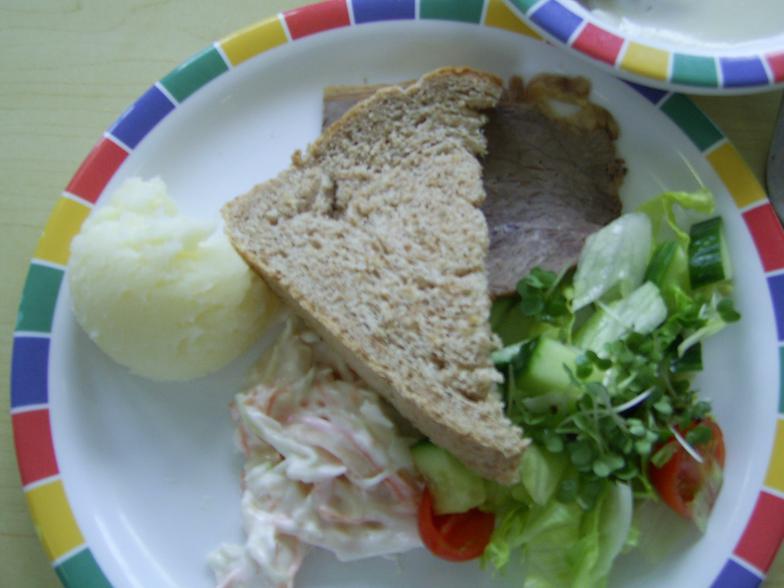 Beef salad and coleslaw