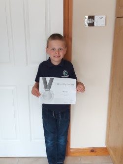 Thomas has got his Silver Study Ladder Certificate