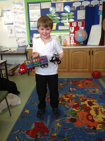 William's truck and tractor were awesome!